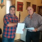 Firma del convenio Colegio Salesiano