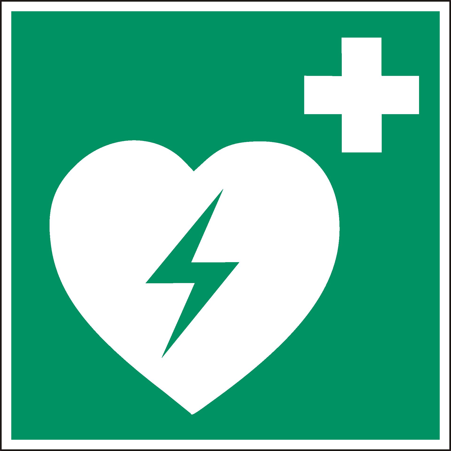 Señal para zonas cardioseguras